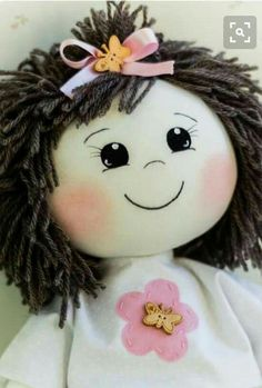 Doll face made with HTV my child doll dimensions Doll Clothes Patterns, Doll Patterns, Doll Face Paint, My Child Doll, Homemade Dolls, Doll Eyes, Doll Tutorial, Sewing Dolls, Doll Hair