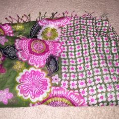 100% authentic Vera Bradley Scarf! New without tags. Beautiful, light scarf. Perfect for any time of the year. 100% Rayon Material. 100% Authentic Vera Bradley. Soft and beautiful design. Wide enough to be used as shawl or wrap as well! Vera Bradley Accessories Scarves & Wraps