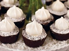 snowy brownie bites - good for a winter party