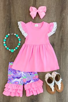 Unicorn Kids Baby Girl Outfits Clothes Ruffle Tops+Long Pants Playsuit Set – Baby For look here Little Girl Outfits, Kids Outfits Girls, Toddler Girl Outfits, Little Girl Fashion, Toddler Fashion, Boy Outfits, Kids Fashion, Cute Outfits, Fashion Clothes