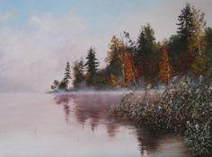 oil painting  Fog   Classic Still Life Landscape Oil by ArtNGalary
