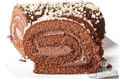 Receita de Rocambole de chocolate em receitas de bolos, veja essa e outras receitas aqui!