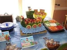 Pirates fruit boat great for kids party