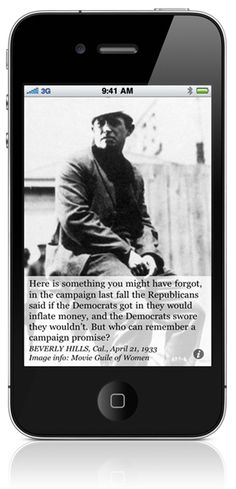 "Will Rogers Quote - ""Who can remember a campaign promise?"""