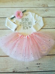 Newborn Take Home Outfit Baby Girl Outfit Newborn Outfit Coming Home Outfit Brand Sparkling New Going Home Outfit Photo Prop Outfit by AdassaBaby on Etsy