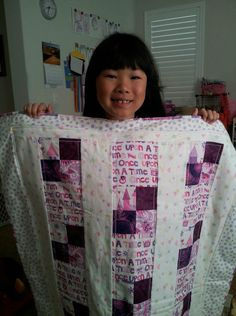 Little miss I with her princess quilt