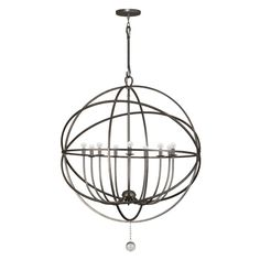 Buy the Crystorama Lighting Group English Bronze Direct. Shop for the Crystorama Lighting Group English Bronze Solaris 9 Light Wide Cage Chandelier with Clear Glass Drops and save. Wrought Iron Chandeliers, Large Chandeliers, Foyer Chandelier, Chandelier Lighting, Mini Chandelier, Park Lighting, Lighting Direct, Entry Lighting, Outdoor Lighting