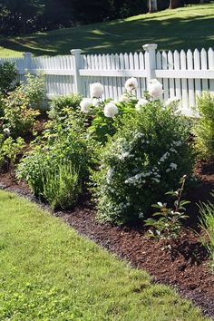 love this flower bed along the fence and the fence is fabulous... perfect for the new home