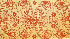 Finnish embroidery, 18th century (The Textile Blog)