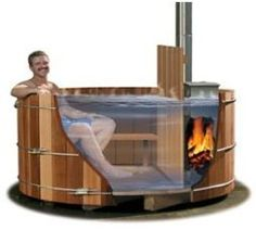 Wood Hot Tub Stove in Canada