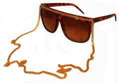 Womens Celebrity Designer Flat Top Style w/Gold Chain Dark Shades Sunglasses - Tortoise by GG. $7.99. GG Exclusive. GET YOUR SWAG ON WITH GreaterGear!