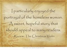 70 best the christmas violin images on pinterest violin buffy and i particularly enjoyed the portrayal of the homeless woman a sweet hopeful story that fandeluxe