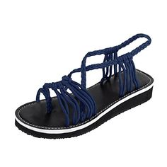 84223ae4f TOOPOOT Women s Summer Flip Flops Woven Strap Sandals Clip Toe Flat Sandals      Details can be found by clicking on the image.