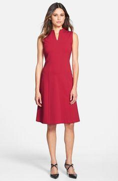 NAS: Lafayette 148 New York 'Ava' Punto Milano High V-Neck Dress available at #Nordstrom