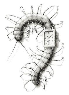Watch 2013 by Redmer Hoekstra Creepy Drawings, Surreal Art, Ear Art, Culture Art, Surreal Artwork, Illustration Art, Metamorphosis Art, Dark Art Drawings, Creative Art