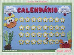 Doce Arte by Pati Guerrato: Decoração de sala de aula - Fundo do mar Letter E Craft, 9 And 10, Under The Sea, Classroom Management, Sunday School, Alice, Display, Lettering, Education