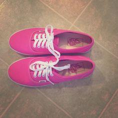 Hot Pink Vans Hot Pink Vans/ Worn a few times/ No box Vans Shoes Sneakers