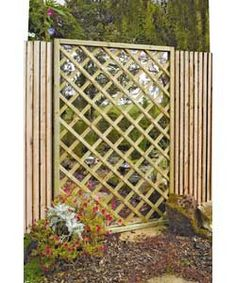 Grange Fencing Garden Mirror Lattice Screen. £189.99.  Wonder if I could make one...