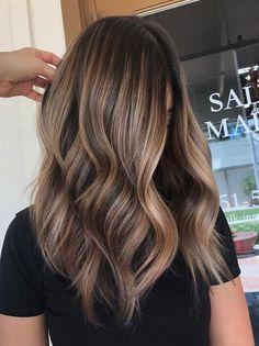 Brown With Blonde Highlights, Brown Blonde Hair, Hair Color Highlights, Hair Color Balayage, Ombre Hair, Beige Blonde, Short Brown Hair With Blonde Highlights, Ombre Balayage, Partial Balayage