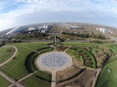 View towards CentreMK from Campbell Park via Steve Morris Steve Morris, Milton Keynes, Baseball Field, Golf Courses, Park, Magic, Parks