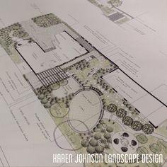 Mid century residence, Kew. By Karen Johnson Landscape Design