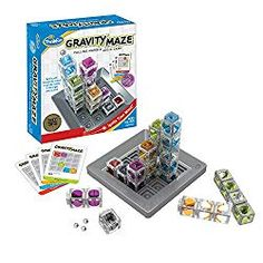 Gravity Maze is one of ThinkFun's most popular stem toys for boys and girls, and was a Toy of the Year Award Winner in in the Specialty Category. It's a gravity powered maze game … Gifts For Boys, Toys For Boys, Games For Kids, Kids Toys, Men Gifts, Family Games, Logic Games, Logic Puzzles, Gravity