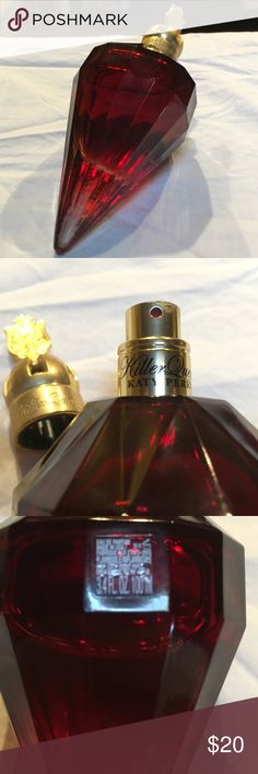Katy Perry Killer Queen 3.4 oz (100ml) Nice bottle, ok scent but feels too young for me and hate that it doesn't stand!! I got totally swept up in the celebrity thing... I'm human:) No reasonable offers will be refused. Other