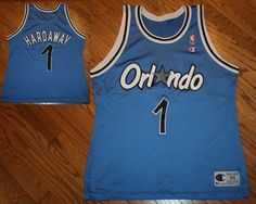 18453dc01 Orlando Magic Penny Hardaway  1 Champion NBA Basketball Jersey-Men s 44  vintage  Champion