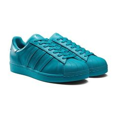 Adidas Superstar Supercolor Schuhe lab green ( 110) ❤ liked on Polyvore  featuring shoes Adidas aa7ffd3bb