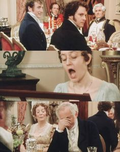 Mr. Bennet is regretting taking his family to the Netherfield ball.