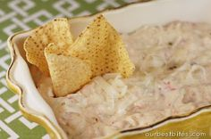 Homemade Queso Dip - trust me when I say adding a whole 8 oz brick of cheese instead of 2 oz and a jalepeno is a wonderful idea.