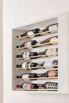 porte-bouteille original sur-mesure design niche Blog Deco, Wine Cellar, Carpentry, Wine Rack, Storage, Furniture, Design, Home Decor, Breakfast Nook