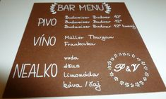 Bar menu / Zboží prodejce Wedding by Peta Diy Wedding, Wedding Flowers, Dream Wedding, Wedding Day, Bar Menu, Green Rose, Wedding Accessories, Wedding Details, Wedding Styles