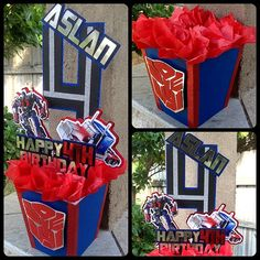 Optimus Prime Centerpiece by OohLalaCreation on Etsy, $20.00