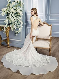 Moonlight Couture H1313 on trend couture lace wedding dresses and beaded wedding dresses