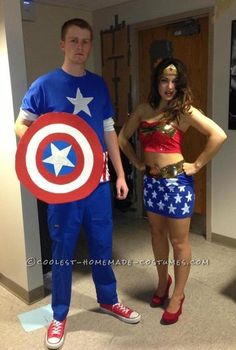 Cool Homemade Justice League Couple Costume... This website is the Pinterest of costumes