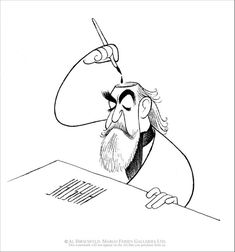 Al Hirschfeld: Broadway's King of Caricature - Illustration Chronicles Caricature Artist, Caricature Drawing, History Of Illustration, Illustration Art, Aardvark Cartoon, Satire, Selfies, Celebrity Caricatures, Black And White Portraits