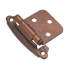 Hickory Hardware P244 Steel Flush Hinge from the Surface Self-Closing Collection Antique Copper Cabinet Hinges Overlay Hinges Traditional Hinges