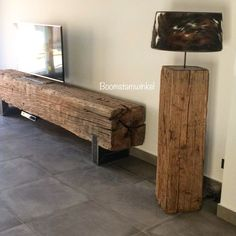 Metal Furniture, Outdoor Furniture, Outdoor Decor, Oak Bench, C Table, Oak Coffee Table, Sweet Home, Home Projects, Entryway Tables