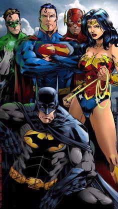 Green Lantern, Superman, The Flash, Wonder Woman and Batman