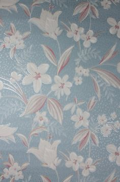 1930's Vintage Wallpaper  Floral Wallpaper by HannahsTreasures, $14.00