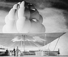 AIR SUPPORTED STRUCTURES CONCEPT NEW YORK WORLD'S FAIR by VICTOR LUNDY (1965)