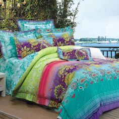 Kids Paisley Bedding Sets Turquoise Lime Green Purple and Red Bohemian Style Luxury Paisley Park Flower and Stripe Print Cotton Full, Queen Size Bedding Sets Purple Bedding Sets, Best Bedding Sets, Queen Bedding Sets, Luxury Bedding Sets, Comforter Sets, Lime Green Bedding, Paisley Bedding, Boho Bedding, Peacock Bedding
