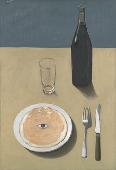 """René Magritte (Belgian, 1898–1967) """"The Portrait""""  Date:     Brussels, 1935 Medium:     Oil on canvas Dimensions:     28 7/8 x 19 7/8""""     (73.3 x 50.2 cm) Credit Line:     Gift of Kay Sage Tanguy MoMA Number:     574.1956 Copyright:     © 2013 C. Herscovici, Brussels / Artists Rights Society (ARS), New York"""