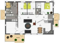 yet an other - Pohja Apartments, Sweet Home, House Ideas, Floor Plans, Layout, Houses, Flooring, Home Decor, Home