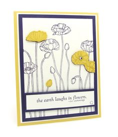 Pleasant Poppies for my Simple Card Monday using Stampin' Up! Poppy Cards, Birthday Cards For Women, Remembrance Day, Pink Bling, Poppies, Tulips, Flower Cards, Stampin Up Cards, Craft Projects