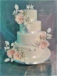 Blush rose cake by Mandy - http://cakesdecor.com/cakes/287959-blush-rose-cake