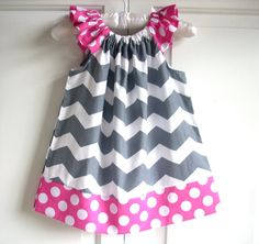 girls dress chevron grey pink birthday girl clothing toddler clothes childrens clothes girls dress  dress girl and toddler