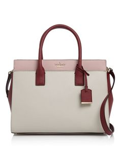 With a convertible strap, kate spade new york's sturdy saffiano leather satchel…