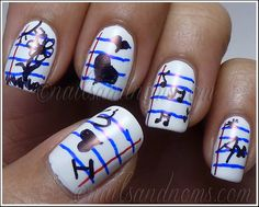 Day 4: White Base With Color by NailsandNoms, via Flickr